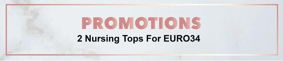 2 Nursing Tops For EURO34